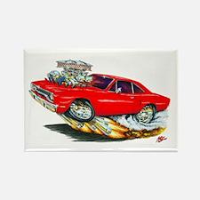 1970 Roadrunner Red Car Rectangle Magnet (10 pack)