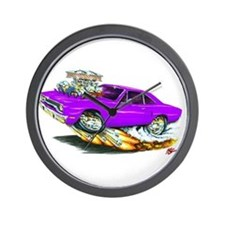 1970 Roadrunner Purple Car Wall Clock