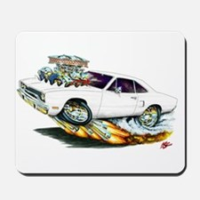 1970 Roadrunner White Car Mousepad