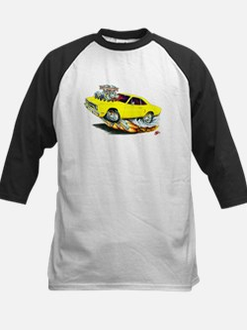 1970 Roadrunner Yellow Car Kids Baseball Jersey