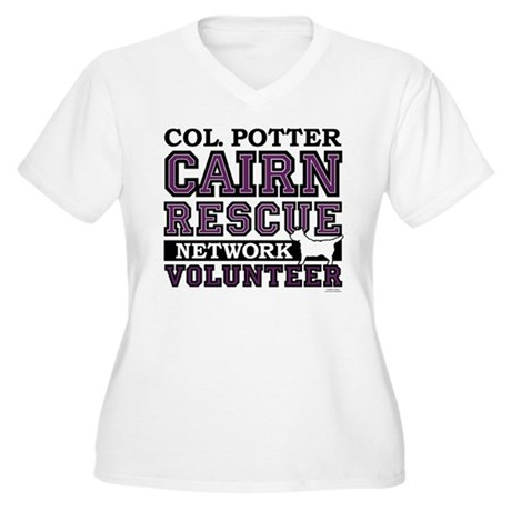 Col. Potter Team Tshirt Women's Plus Size V-Neck T