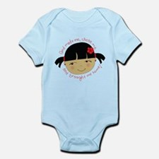 God Brought Me Home Infant Bodysuit