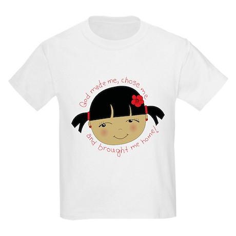 God Brought Me Home Kids Light T-Shirt