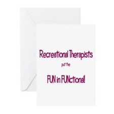 Recreational Therapist Greeting Cards (Package of