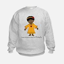 Made Me in Ethiopia-Girl Sweatshirt