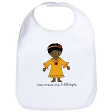 Made Me in Ethiopia-Girl Bib
