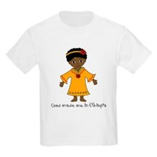 Made Me in Ethiopia-Girl T-Shirt