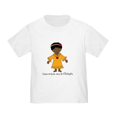 Made Me in Ethiopia-Girl Toddler T-Shirt
