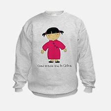 Made Me in China-Girl Sweatshirt