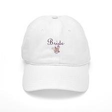 Purple Floral Wedding Invitation Set Baseball Cap
