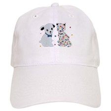 GINGHAM DOG AND CALICO CAT Baseball Cap