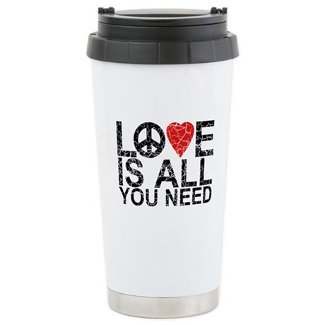 Love Is All Stainless Steel Travel Mug