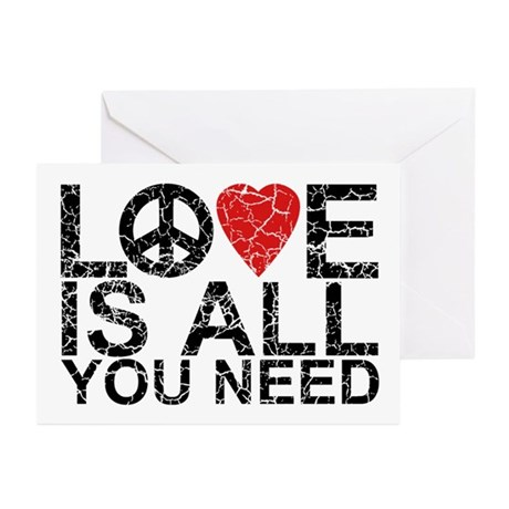 Love Is All Greeting Cards (Pk of 10)