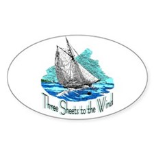 Three Sheets to the Wind Oval Decal