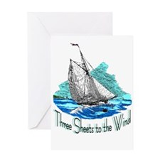 Three Sheets to the Wind Greeting Card