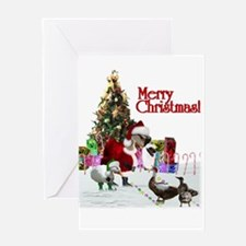 Funny Duck christmas Greeting Card