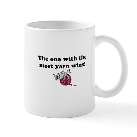 One With Most Yarn Wins Mug
