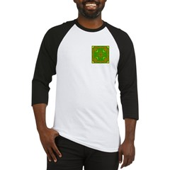 Brown & Green Megalith Design Baseball Jersey