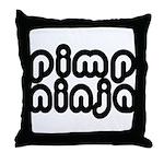 Pimp Ninja Throw Pillow
