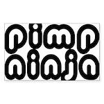 Pimp Ninja Rectangle Sticker 50 pk)
