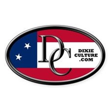 Dixie Culture Oval Decal