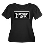 1-Cent M Women's Plus Size Scoop Neck Dark T-Shirt