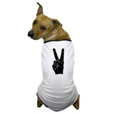BIG PEACE FINGERS Dog T-Shirt