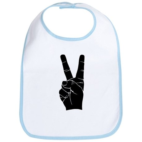 BIG PEACE FINGERS Bib