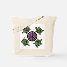 Peace Turtles Tote Bag