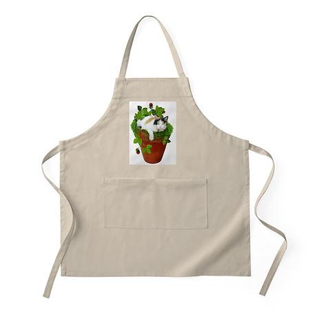 Flowerpot Cat BBQ Apron