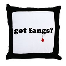 got fangs? Throw Pillow