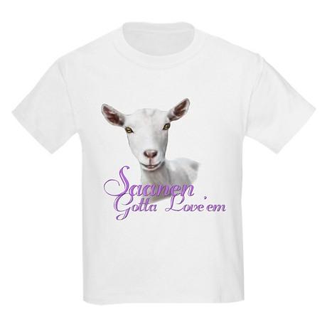 Saanen Goat Gotta Love 'em Kids Light T-Shirt