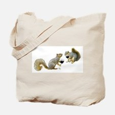 Squirrels Drinking Wine Tote Bag