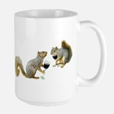 Squirrels Drinking Wine Mug
