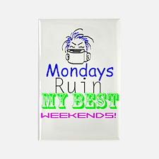 Blue Monday Rectangle Magnet