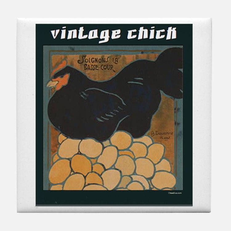 Vintage Chick Tile Coaster