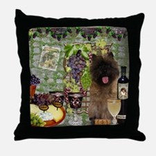 Cairn Terrier Winery Throw Pillow