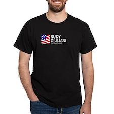 Giuliani 08 Black T-Shirt