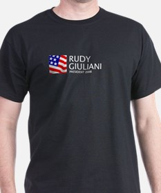 Giuliani 08 Black T-Shirt
