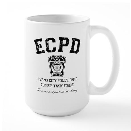 Evans City Police Dept Zombie Task Force Large Mug