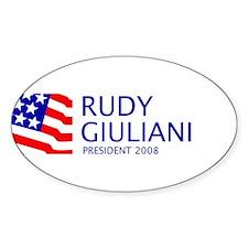 Giuliani 08 Oval Decal