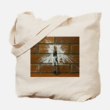 Fork Plastered on Brick Wall Tote Bag