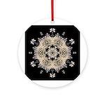 Queen Annes Lace Ia Ornament (Round)