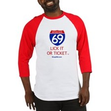Lick it or Ticket Baseball Jersey.