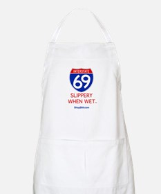 Slippery When Wet BBQ Apron.