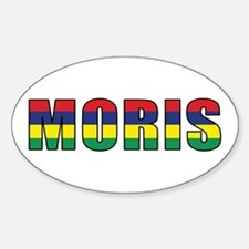 Mauritius (Creole) Oval Decal