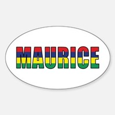 Mauritius (French) Oval Decal