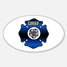 Fire Chief Gold Maltese Cross Decal
