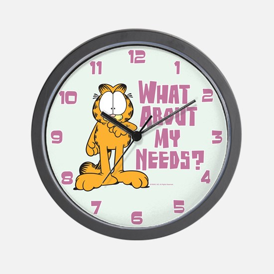 What About My Needs? Wall Clock