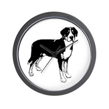 Greater Swiss Mountain Dog Wall Clock
